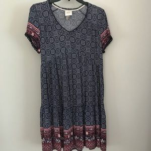 Knox Rose Boho Short Sleeve Dress